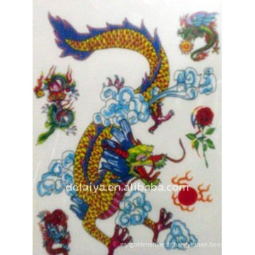 autocollants de tatouage temporaire de dragon