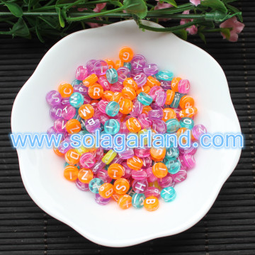 4*7mm Acrylic Coin Round Alphabet Letter Beads