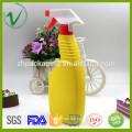 Promotional high-quality flat empty HDPE 500ml plastic bottle liquid supplier