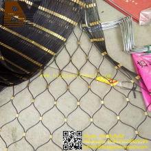 Malla de cuerda de alambre de acero inoxidable para bolsa antirrobo