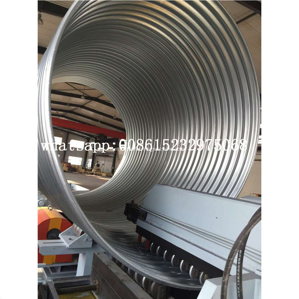 Spiral Helically Corrugated Culvert Pipe Machine