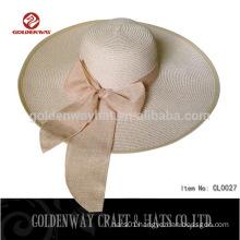 fashion ladies foldable wide brim straw hat