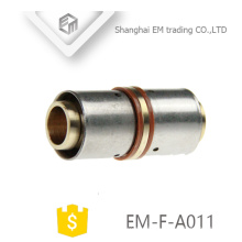 EM-F-A011 Brass straight coupling press connecting pipe fitting