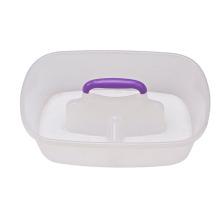 Cubos que se lavan del coche plástico barato almacenado respetuoso del medio ambiente del agua 15L 28 * 24 * 10 con la manija