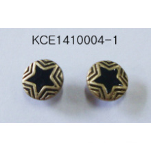 Retro Earrings with Stars Engraved