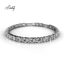 18K Gold Plated Embellished High Quality Crystal Joyous Tennis Women Bracelet