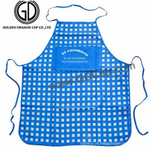 Fabricante Promtional Polycotton Checked Cooking Kitchen Apron