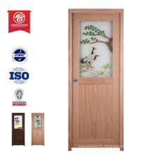 manufacturer latest design wood plastic composite door framed