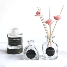 Home decoration 50ml 120ml 150ml 200ml round aromatherapy fragrance oil diffuser glass bottle