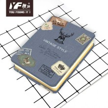 Caderno com capa de metal estilo carimbo