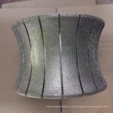 Rueda abrasiva de mármol del diamante de la rueda del perfil de piedra de 250m m