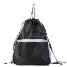 Polyester Skola Sport Gym Shopping Mesh Drawstring Bag