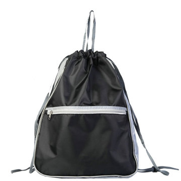 Polyester School Sport Gym Shopping Mesh Drawstring Bag