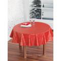 Toalha de mesa impressa PVC do revestimento protetor Nonwoven barato por atacado para o casamento / partido / home