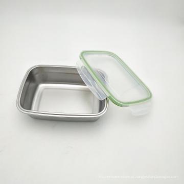 Armazenamento hermético hermético do alimento do fechamento da caixa do vácuo 304 do metal aço inoxidável 5504