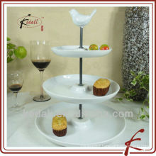 ceramic cup cake stand with bird top