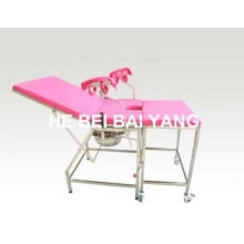 (A-176) Lit médical / lit d'hôpital / Mobilier d'hôpital / Lit de livraison en acier inoxydable