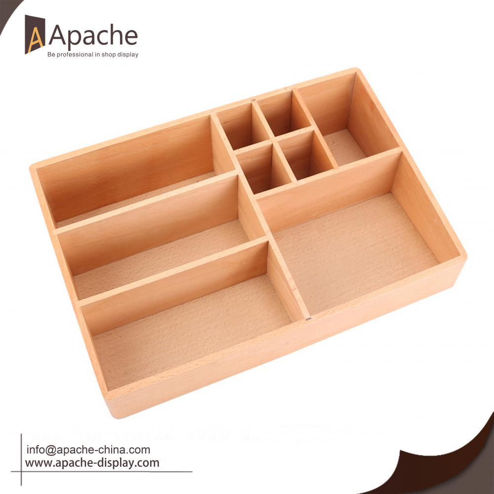 Wooden Cosmetic Makeup  Lipstick Display Stand