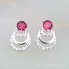 nouveaux produits haute marge sur le marché indien rubis bijoux conceptions mariée en laiton boucle d'oreille plaqué or
