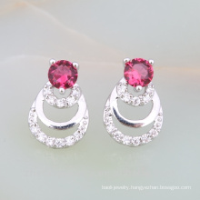 new products high margin on market indian ruby jewellery designs bridal brass earring gold plated