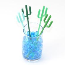 Disposable creative stick for Cocktail Swizzle Milk tea Juice Coffee with Cactus shape