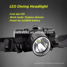 Jexree 1000Lumen Cree XPE conduit un projecteur de plongée led rechargeable