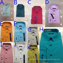 New Arrival 2014 Colorful Turn-Down Collar Single Button Camisas solteiras de homens de cor sólida Camisas masculinas para dentro da camisa NB0560