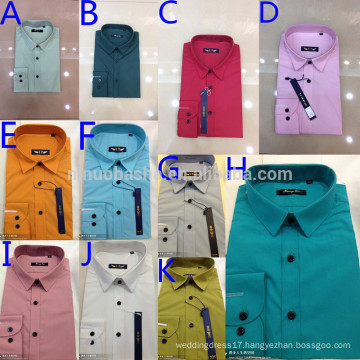 New Arrival 2014 Colorful Turn-Down Collar Single Button Solid Color Men's Casual Shirts Men's Suits Inside Shirt NB0560