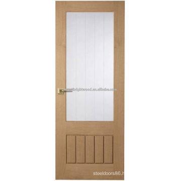 Modern Wooden Interior office door with glass window