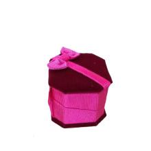 Venda por atacado exclusiva da caixa do anel da jóia de veludo do projeto da borboleta (BX-VPB-PP)