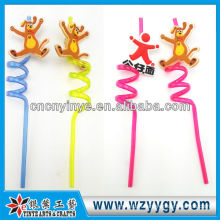 Fancy Gift soft pvc drinking straw For Souvenir