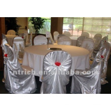 self-tie back chair cover,CT475 satin chair cover,universal chair cover