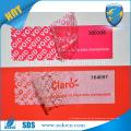 Garantie void Dichtungsband, Adhesive Anti Fake offenes void Etikett für Papierkarton Verpackung