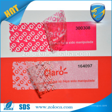 warranty void seal tape,Adhesive anti fake open void label for paper box packaging