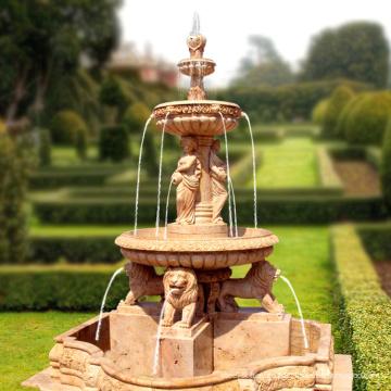 2018 новый Дубай садовых статуй Льва мраморный фонтан с дешевым ценой