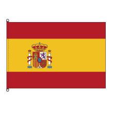 Bandeira da Espanha com bandeira de tempestade brilhante