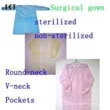 Vestido cirúrgico não tecido tecido descartável Fabricante Kxt-Sg19