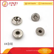 Botón de remache de metal de gama alta para pantalones vaqueros / paños promocionales