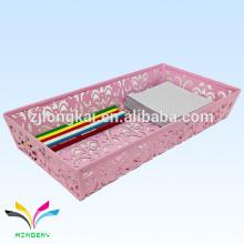 novo estilo colorido rosa escaduz magnético caneta de mesa suporte memo cubo para a escola