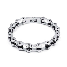 High quality stainless steel silver cuff biker bracelets,motorcycle jewelry for men