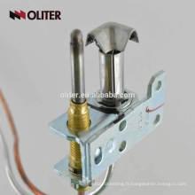 soupape d'arrêt d'alarme chaudière capteur de flamme cuisinière à gaz thermocouple anti-déflagrant avec connecteur de tube coudé