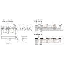 Display de Segmento de 4 dígitos de 0.40 polegadas (GNS-4041Ax-Bx)