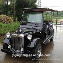 7.5KW 68V 4-Sitzer Passagier elektrische Benzin klassische Vintage Sightseeing Golfwagen für den Großhandel