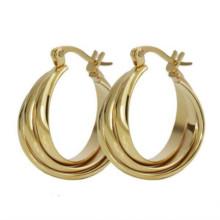 Fashion designs Großhandel Aussage schwere lange Mädchen mexikanischen Gold Ohrringe hängen