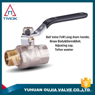 TMOK gas, agua, aceite Válvula de bola de latón con puerto libre forjado NPT forjado con etiqueta privada en el mango CSA FM UL IAPMO