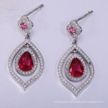 2018 joyas de plata de estilo caliente para las mujeres pendientes