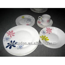 Haonai bulk 20pcs restaurant porcelain dinnerware sets