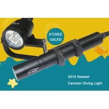 Lampe de poche de haute luminosité 3000 lumen cree xm-l u2 * 3 pcs 26650 batterie