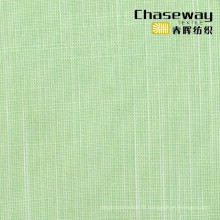 Tissu en polyester à rayons viscose Tissu à deux tons Slub T / R