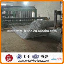 2015 shengxin venda quente negativa torção quente mergulhado galvanizado malha de arame hexagonal, gaiola de galinha / gabion